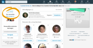 Connect2 LinkedIn netwerkgrootte 2