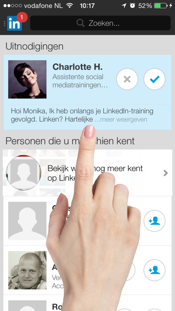 Connect2 LinkedIn uitnodiging smartphone 3