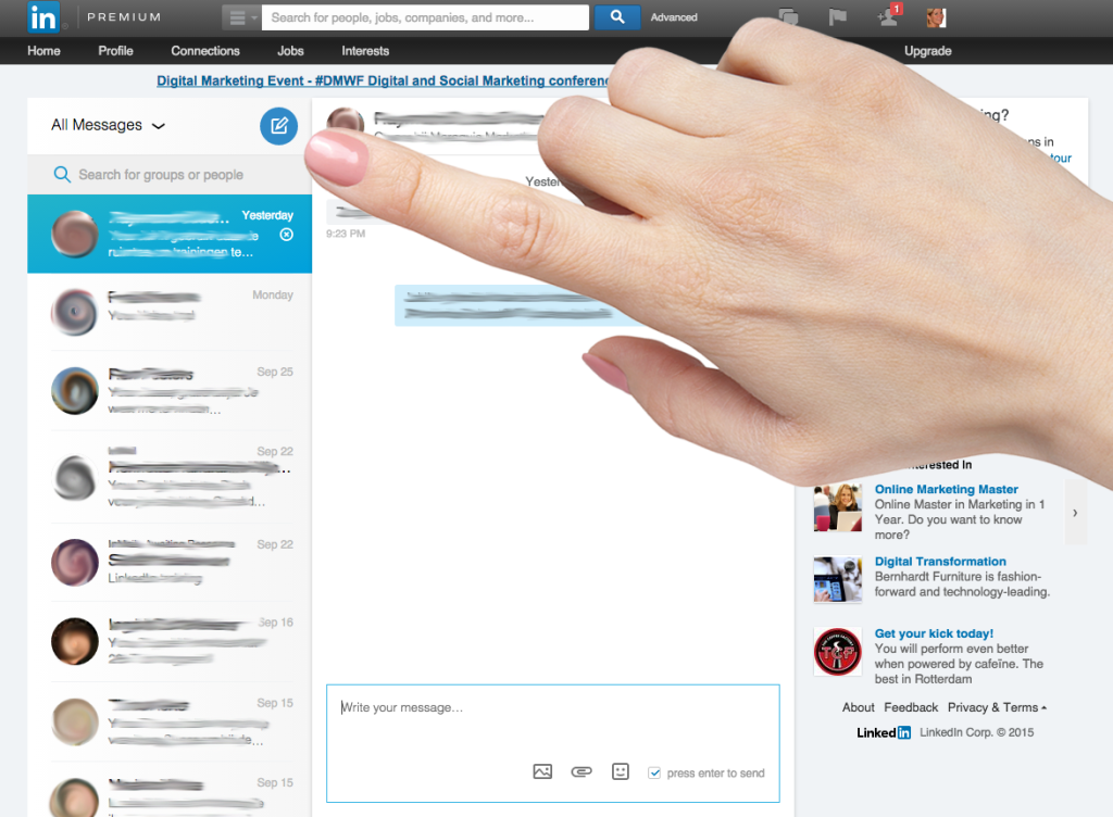 Connect2 LinkedIn chatten 3